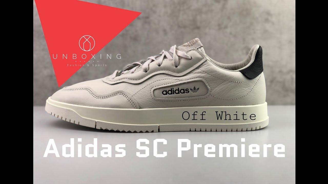 d40c99ce Adidas SC Premiere 'Raw White/Chalk White/Off White' | UNBOXING & ON FEET |  fashion shoes | 2019