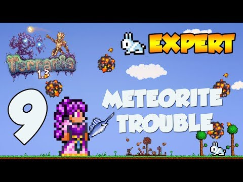 Terraria 1.3 Expert Lets Play - METEORITE TROUBLE (Xbox One) [9]