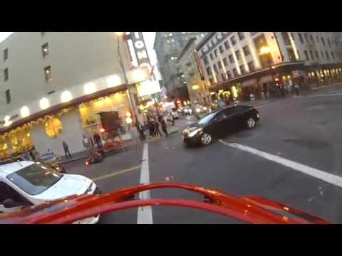 The death of my D675 and birth of my Ninja skills:  Idiot cager blows red light