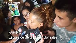La esposa del policía Páez González reclamó justicia por su marido asesinado