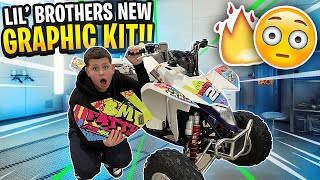 little-brother-gets-new-graphic-kit-for-his-quad-looks-wild-braap-vlogs