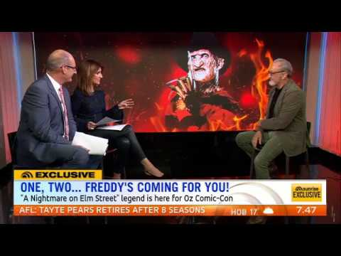 Robert Englund  Sunrise Australia TV 2016
