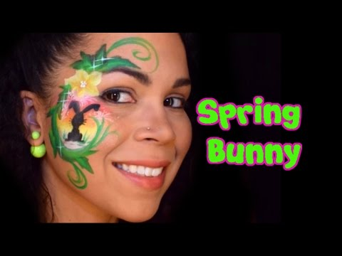 Spring Bunny Face Painting Tutorial YouTube