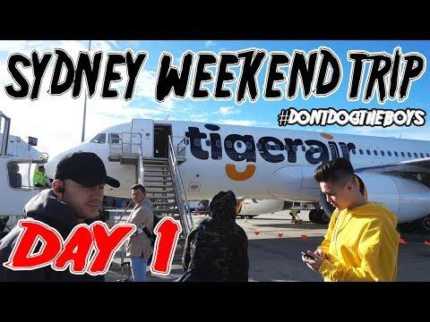Sydney Trip #Don'tDogTheBoys Day & Night 1 VLOG!