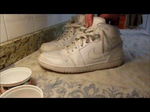 How to Clean Air Jordan 1's All White (READ DESCRIPTION)