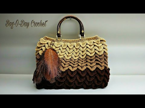 How To Crochet a Bag | Birds of a Feather Handbag Purse | BAG O DAY Crochet Tutorial #475