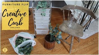CHAIR UPCYCLE| CHALK PAINT FABRIC | FARMHOUSE GARAGE SALE THRIFT HAUL |RECYCLE DIY TRASH TO TREASURE