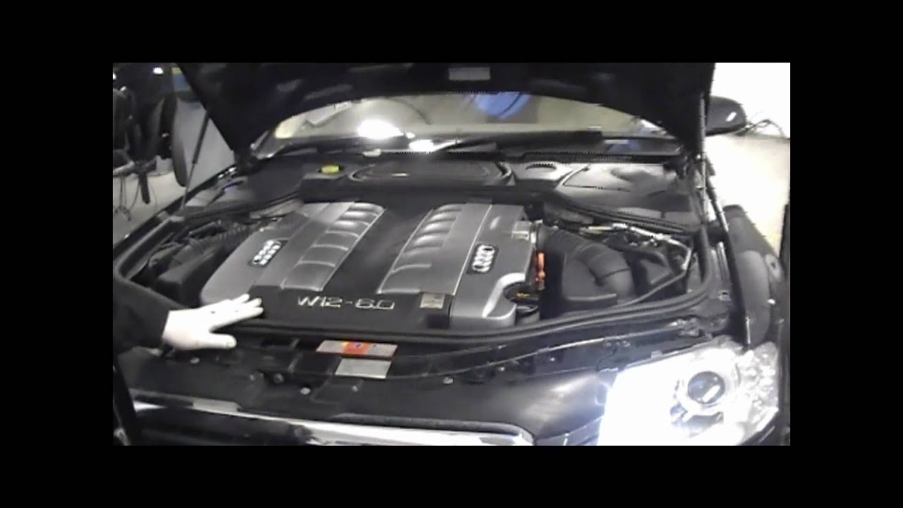 Audi A8 W12 >> Audi A8 W12 engine - YouTube
