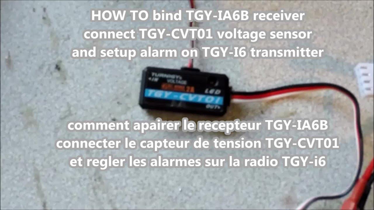 how to setup battery telemetry on tgy i6 voltage sensor / tuto telemetrie  batterie tgy i6