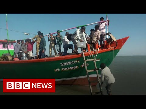 A journey across land and sea to reach 44 voters - BBC News