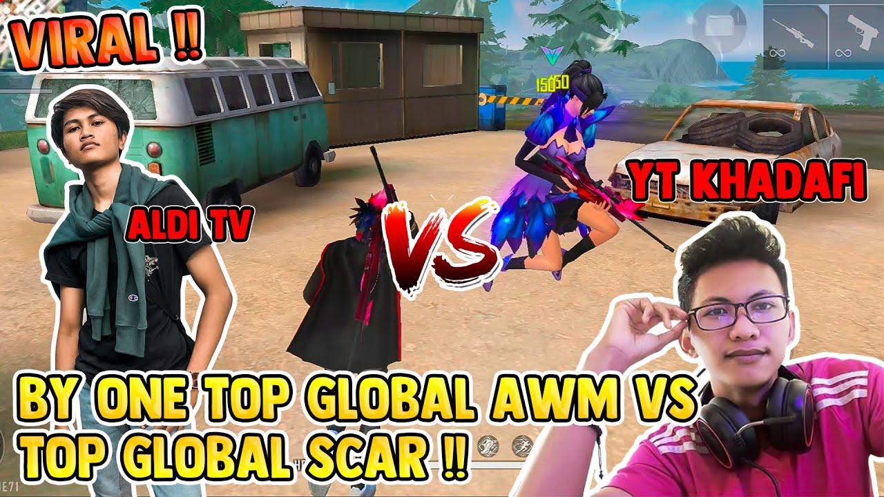 SEREM !! BY ONE TOP GLOBAL AWM VS TOP GLOBAL SCAR !! ALDI TV VS YT KHADAFI !! | ALDI TV