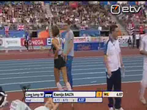 Ksenija Balta TORINO:  EUROPE CHAMPION 2009 long jump
