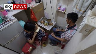 Hong Kong's residents living in 'coffin' homes