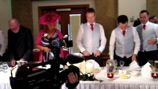Ursula Dunne & Michael Ennis Wedding, bridal party arriving at top table