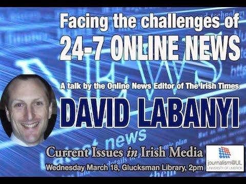 David Labanyi: Journalism@UL Seminar, March 18, 2015