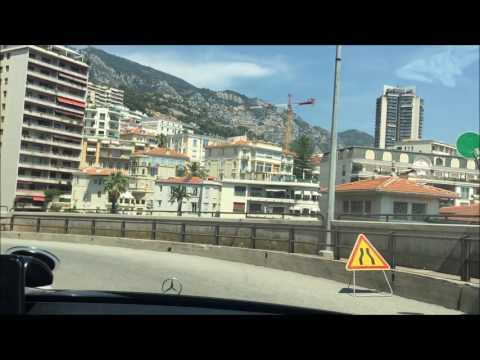 Mercedes 124 coupe on Cote d`Azur