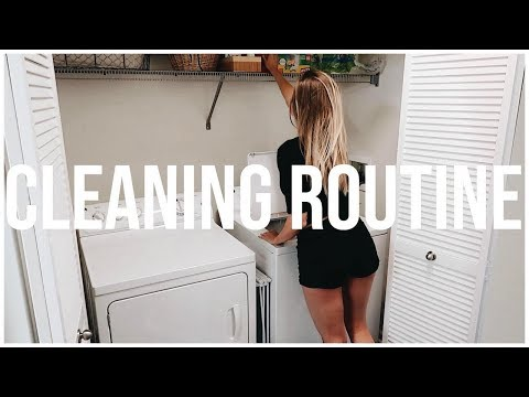SUNDAY CLEANING ROUTINE  Reset + Recharge  Renee Amberg