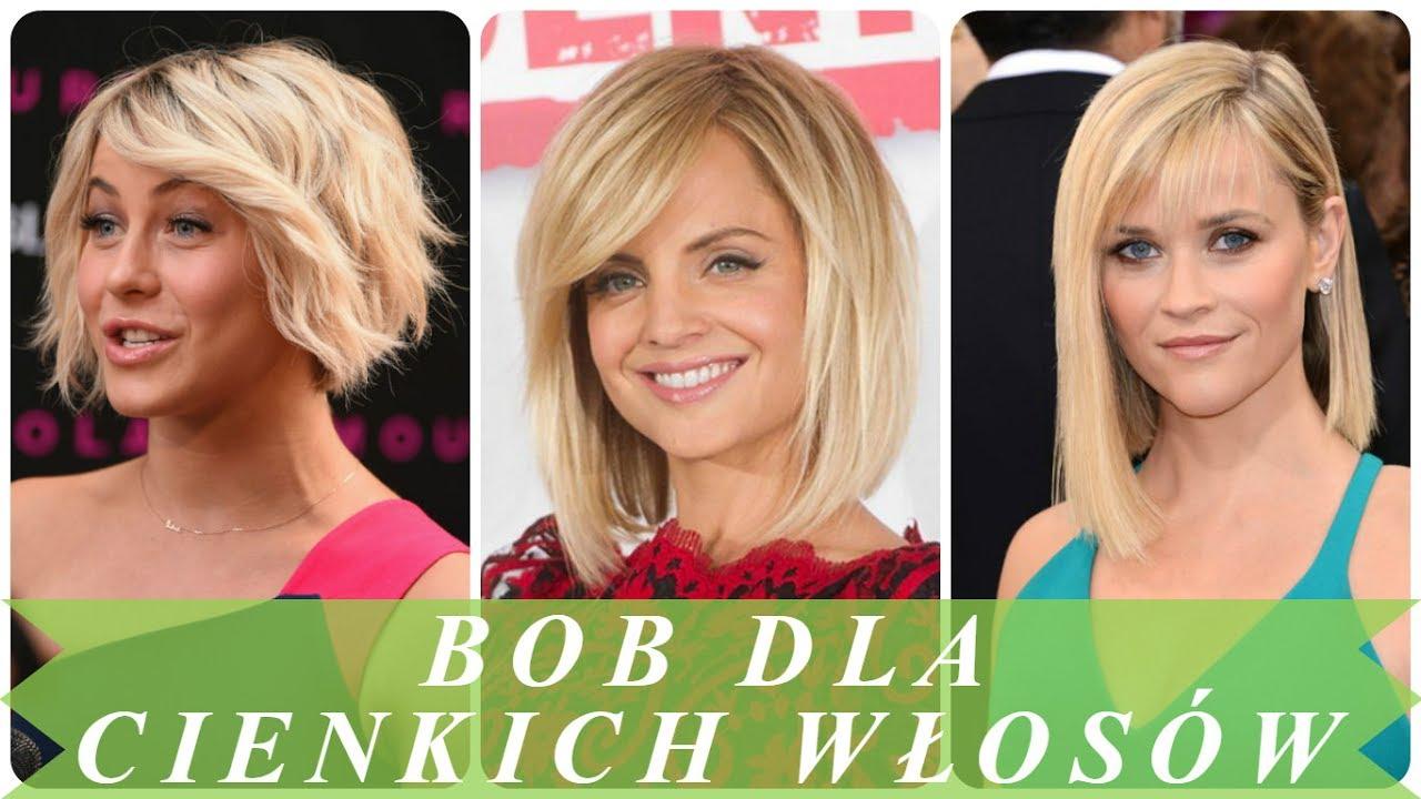 Modne Fryzura Na Boba Dla Cienkich Włosów
