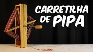 Como fazer uma carretilha de pipa com manivela