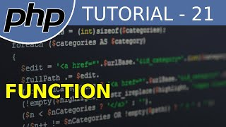 PHP Full Tutorial For Beginners With Examples #21 Function
