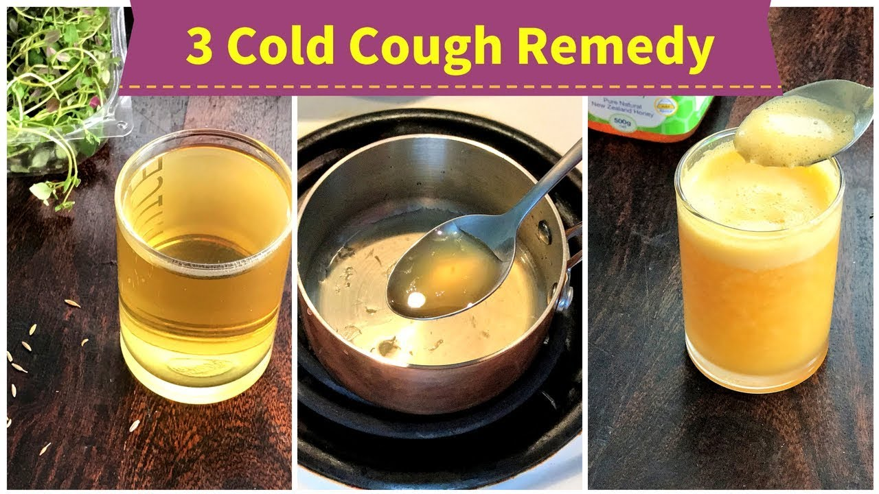 3 Cold Cough Remedy For 1 Toddlers Kids Adults Youtube