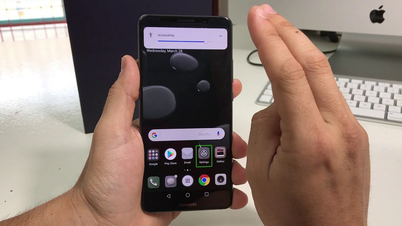 How to Disable / Turn OFF TalkBack on a Huawei Mate 10 Pro