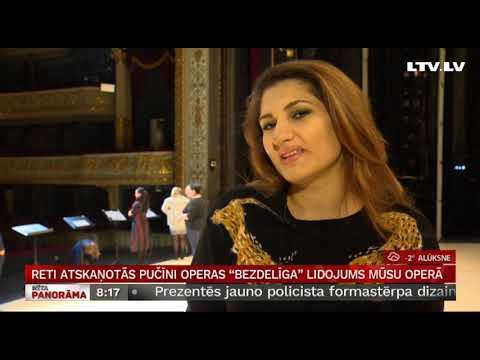"""Reti atskaņotās Pučīni operas """"Bezdelīga"""" lidojums mūsu Operā"""
