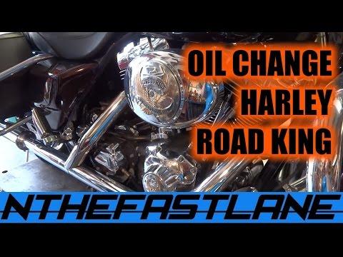 ▶️Oil Change: Harley Road King Custom 2005🔧