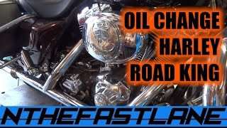 Oil Change Harley Road King Custom 05