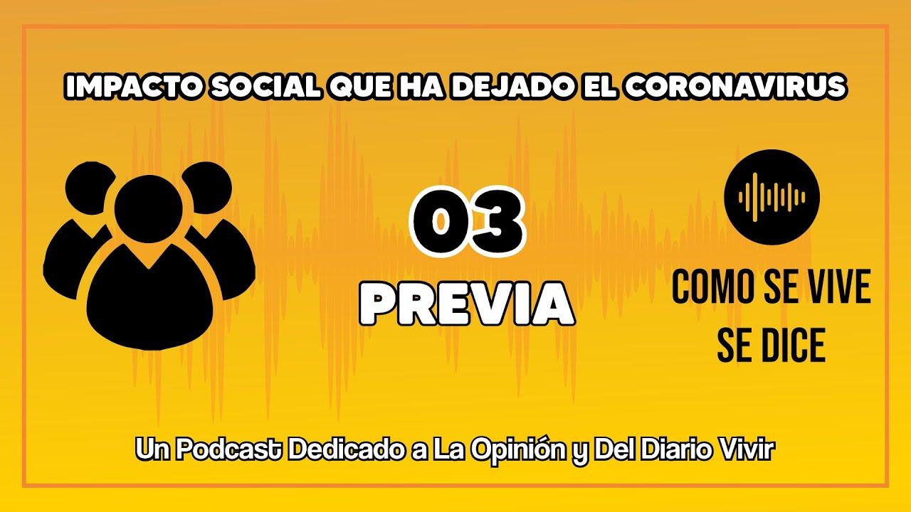 ✅PREVIA CAP 03 -IMPACTO SOCIAL que ha dejado el CORONAVIRUS - Como Se Vive Se Dice 🎙- PODCAST 🇨🇴