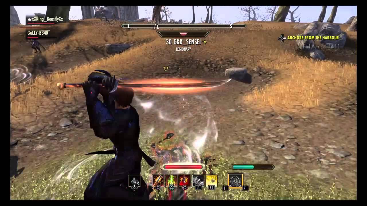 eso stamplar werewolf pvp 2vx youtube