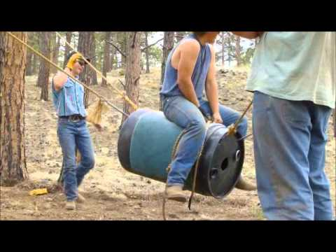 how to build a stationary barrel for bull riding