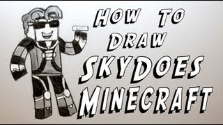 Ep. 108 How to draw SkyDoes Minecraft!