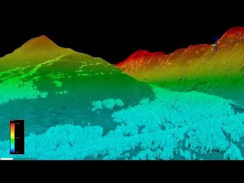 Turnagain Pass airborne laser scanning (lidar) on 20180330 - long version