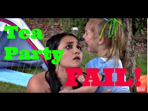 TEA PARTY! FAIL!!! Water slide. FOOD Fun! The TOYTASTIC Sisters
