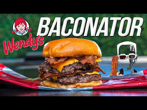 Wendy's Baconator Burger - But Homemade... & WAY BETTER! | SAM THE COOKING GUY 4K