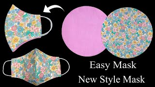 Easy Mask New Style Face Mask Making How to make fabric face mask sewing tutorial