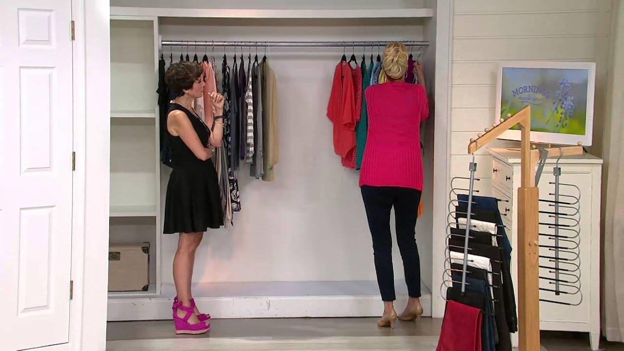 Space Saving 10 Pair Pant Hanger Wardrobe Organizer With Nancy Hornback