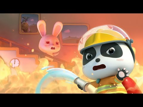 Baby Rabbit's House is on Fire | Super Panda Firefighter | Fire Truck Rescue Team | BabyBus