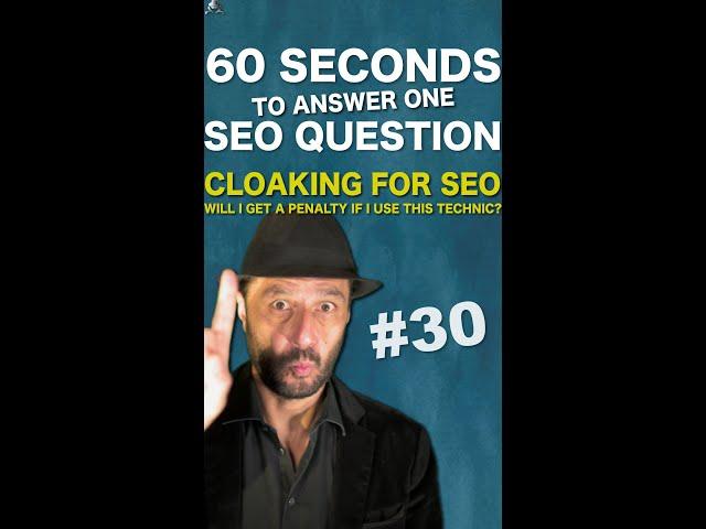 Will I Get a Google Penalty if I Use Cloaking for SEO? - SEO Conspiracy QA #Shorts
