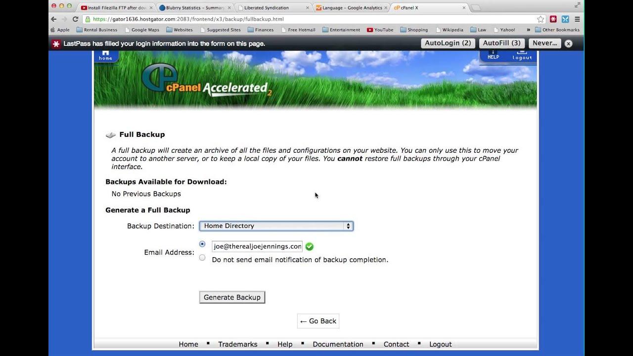 Backup Your Hostgator Site Using cPanel
