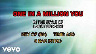 Larry Graham - One In A Million You (Karaoke)