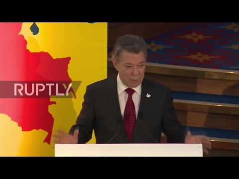 UK: N.Ireland peace process is an 'inspiration' to me - Colombian Pres. Santos