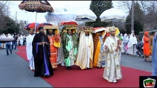 Ethiopian  Timket/Epiphany celebration in Seattle - January  18,  2014 - miles of walk on Red Carpet