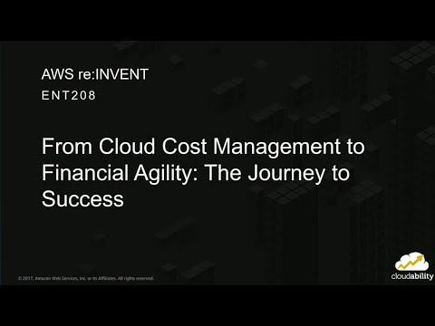 AWS re:Invent 2017: From Cloud Cost Management to Financial Agility: The Journey to  (ENT208)