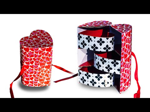 Best out of waste   Heart Shape Multi Storage Box   Recycle   DIY    Art with Creativity