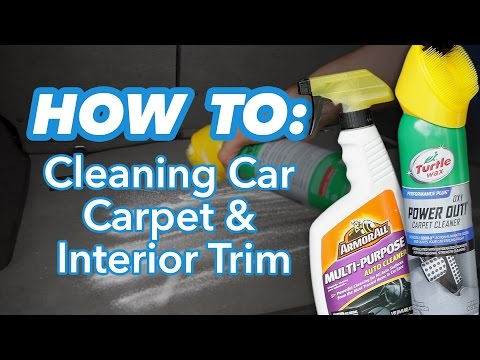 how to clean your car s carpet doovi. Black Bedroom Furniture Sets. Home Design Ideas