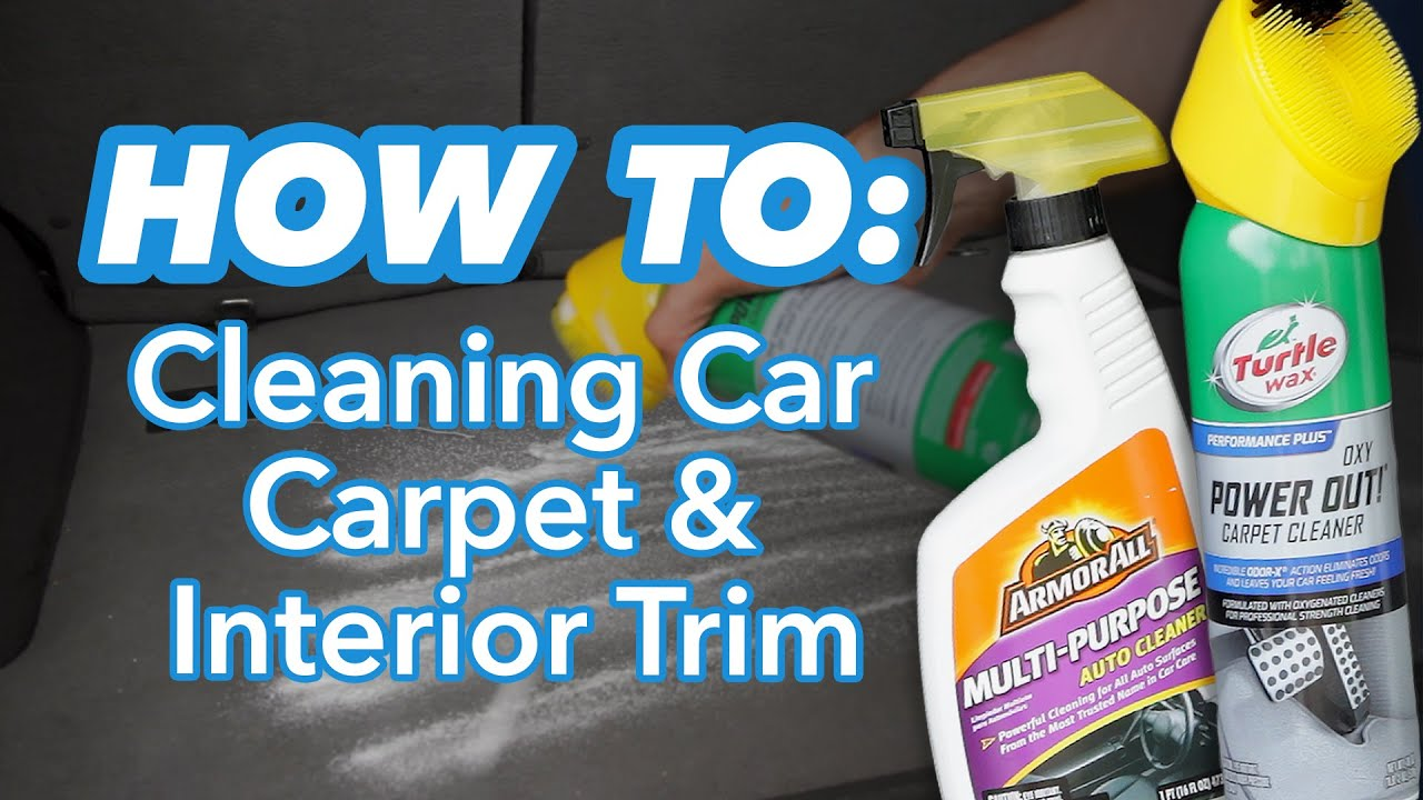 how to clean car carpet and interior trim at home youtube