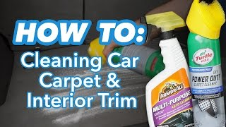 How to Clean Car Carpet and Interior Trim at Home