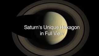 Saturn's Unique Hexagon 666 Mash Up